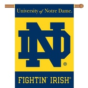 BSI Products NCAA 2-Sided Banner; Notre Dame - ND Logo