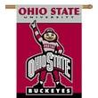BSI Products NCAA 2-Sided Banner; Ohio State  - Brutus Buckeye Logo