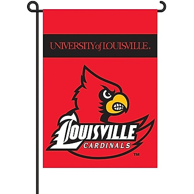 BSI Products NCAA 2-Sided Garden Flag Set; Louisville