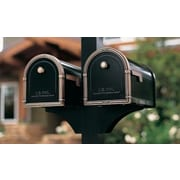 Architectural Mailboxes Decorative Side Bracket for 1 Mailbox; Black
