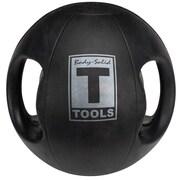 Body Solid 6 lbs Dual Grip Medicine Balls in Black