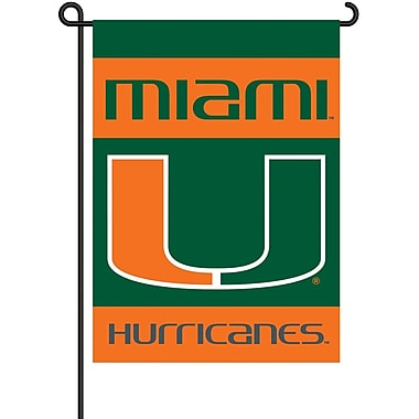 BSI Products NCAA 2-Sided Garden Flag Set; Miami
