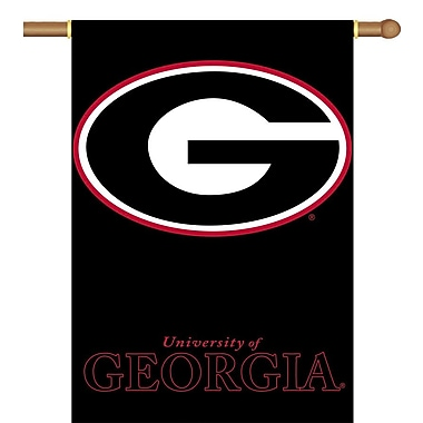 BSI Products NCAA 2-Sided Banner; Georgia Bulldogs - G Logo on Black