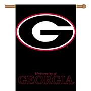 BSI Products NCAA 2-Sided Banner; Georgia Bulldogs - G Logo on Black