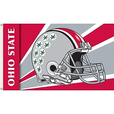 BSI Products NCAA Helmet Design Traditional Flag; Ohio State