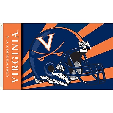 BSI Products NCAA Helmet Design Traditional Flag; Virginia