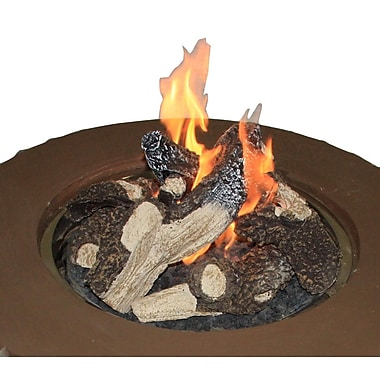 The Outdoor GreatRoom Company Crystal Fire Concrete Natural Gas Fire Pit Table