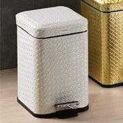 Gedy by Nameeks Marrakech 1.4 Gallon Step-On Metal Trash Can; Pearl