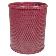 Redmon Chelsea Decorator Round Wicker Wastebasket; Raspberry