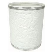 Redmon Traditional Times Plastic Trash Can; Silver