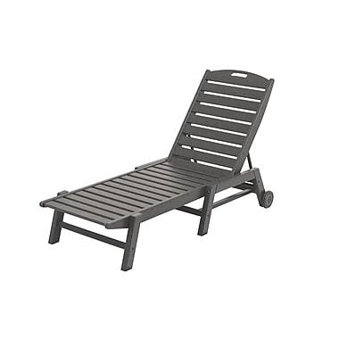 POLYWOOD Nautical Chaise Lounge; Slate Grey