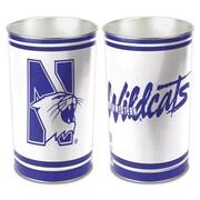 Wincraft NCAA 4 Gallon Metal Trash Can; Northwestern