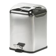 WS Bath Collections Complements Karta Waste Basket with Foot Pedal; Transparent
