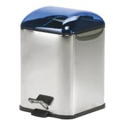 WS Bath Collections Complements Karta Waste Basket with Foot Pedal; Blue