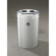 Glaro, Inc. RecyclePro 33-Gal Triple Stream Multi Compartment Recycling Bin; Satin Aluminum