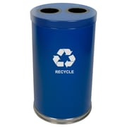Witt Metal Recycling 36-Gal Two Opening Multi Compartment Recycling Bin; Blue