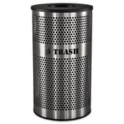 Ex-Cell Metal Products 33-Gal Stainless Steel Trash Receptacle