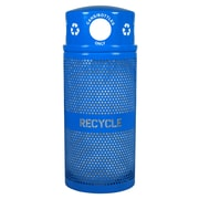 Ex-Cell Metal Products Landscape Series 34-Gal Outdoor Industrial Recycling Bin