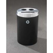 Glaro, Inc. RecyclePro 33-Gal Triple Stream Multi Compartment Recycling Bin; Black