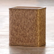 LaMont Carter Wicker Trash Can; Cappuccino