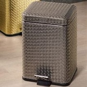 Gedy by Nameeks Marrakech 1.4 Gallon Step-On Metal Trash Can; Silver