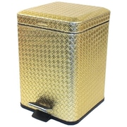 Gedy by Nameeks Marrakech 2.56 Gallon Step-On Metal Trash Can; Gold