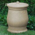 Good Ideas Savannah 30-Gal. Urn Storage and Waste Bin; Sandstone