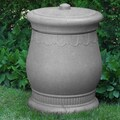 Good Ideas Savannah 30-Gal. Urn Storage and Waste Bin; Light Granite