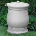 Good Ideas Savannah 30-Gal. Urn Storage and Waste Bin; White