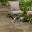 Home Loft Concept Albert Iron Pipe Outdoor Adjustable Barstool