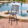 Home Loft Concept Piedmont Cast Aluminum Copper Outdoor Bar Stool