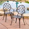 Home Loft Concept Brunswick Cast Aluminum Copper Outdoor Dining Chair (Set of 2) (Set of 2)
