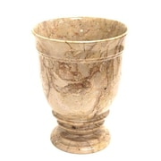 Nature Home Decor Waste Basket; Sahara Beige Marble