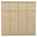 Yardistry 4 High 6' 6'' H x 6' 8'' W x 2'' D Privacy Lattice Panel