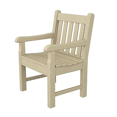 POLYWOOD Rockford Dining Arm Chair; Sand