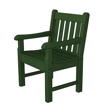 POLYWOOD Rockford Dining Arm Chair; Green