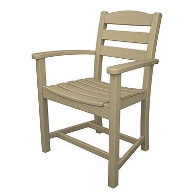 POLYWOOD La Casa Caf Dining Arm Chair; Sand