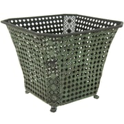 Oriental Furniture Square Wrought Iron Waste Basket