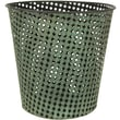 Oriental Furniture Round Wrought Iron Waste Basket