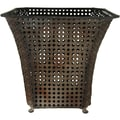 Oriental Furniture Wrought Iron Waste Basket