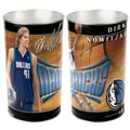 Wincraft NBA Tapered Wastebasket; Dallas Mavericks - Dirk Nowitzki
