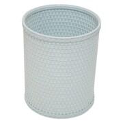 Redmon Chelsea 2.6 Gallon Wicker/Rattan Trash Can; Illusion Blue