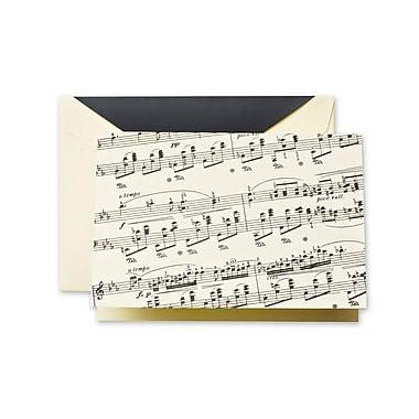 Crane & Co™ Sheet Ecru Note With Envelope, Black Music