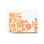 Crane & Co™ Letterpress Pearl White Note With Envelope, Clementine Zinnias