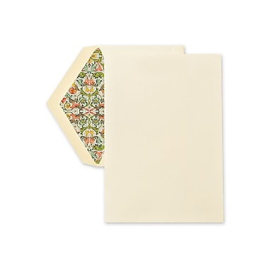 Crane & Co™ Ecruwhite Half Sheet With Envelope, Red Florentine