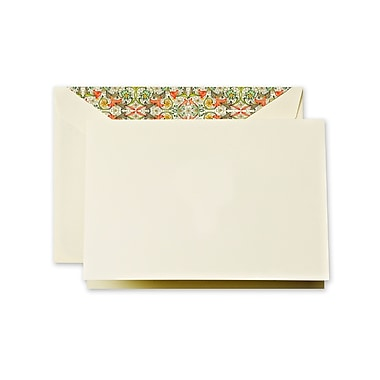Crane & Co™ Ecruwhite Note With Envelope, Red Florentine