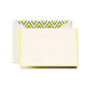 Crane & Co™ Ecru Note With Envelope, Lemon Bordered