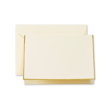 Crane & Co™ Ecru Note With Envelope, Gold Bordered