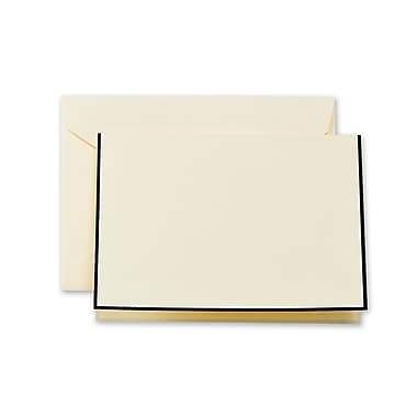 Crane & Co™ Chateau Ecru Note With Envelope, Black Bordered