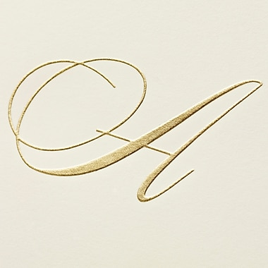 Crane & Co™ Hand Engraved Ecru Initial Notes With Envelope